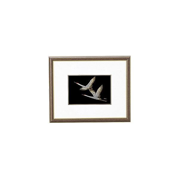 鶴 漆絵 パネル 絵画 額入り おしゃれ ギフト 越前漆器 艶 上品 漆器 高級 日本製【送料無料】鶴 パネル 1014602