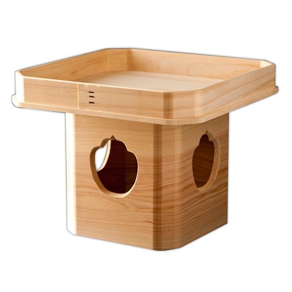 お正月 三宝 木製 9寸 鏡餅 飾り 高級 日本製 【送料無料】木製三宝(9寸)