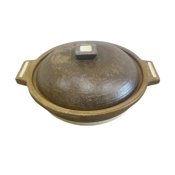 鍋 1人用 シンプル おしゃれ 可愛い プレゼント 信楽焼 陶器 日本製Hangout 1人用鍋 Hg-2