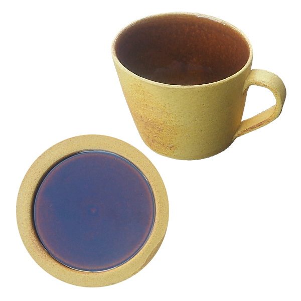 Deep breath mug cup + mini plate set DB-4 DB-7 Caramel made in present present earthenware Shigaraki ware Japan which tableware mug cup plate plate caramel ...  sc 1 st  Rakuten & kodawarizakkahompo | Rakuten Global Market: Deep breath mug cup + ...