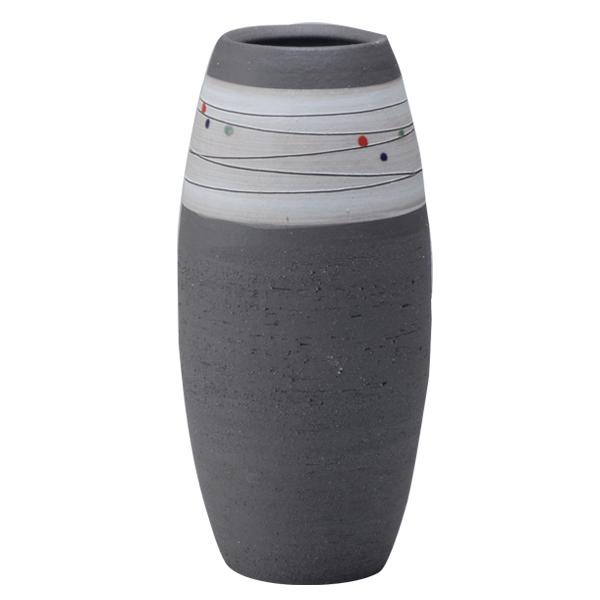 花瓶 花入 花器 焼物 シンプル 癒し インテリア おしゃれ プレゼント 日本製 信楽焼 てつぐろ G5-28-02