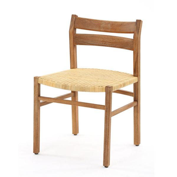 家具 インテリア ダイニングチェア 椅子 イス いす 腰掛け チーク 無垢材 ラタン 木製 籐製 食卓用 ダイニング セット 北欧 ナチュラル カントリー かわいい 【代引き不可】【メーカー直送品】【送料無料】チーク無垢材とラタンのダイニングチェア C700XP
