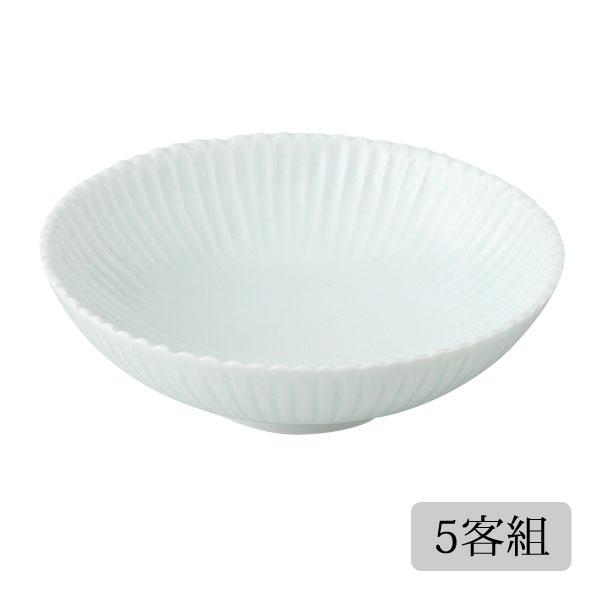 食器 皿 小皿 取皿 セット 菊 かわいい おしゃれ プレゼント 贈り物 波佐見焼 磁器 日本製 菊花 取皿(青磁) 5客組 11583