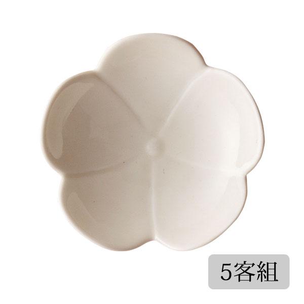 食器 皿 小皿 セット 花 かわいい おしゃれ プレゼント 贈り物 波佐見焼 磁器 日本製 プルメリア 一輪小皿(黄釉) 5客組 11586