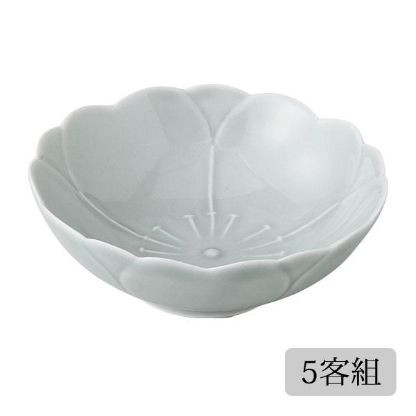 食器 皿 小皿 セット さくら かわいい おしゃれ プレゼント 贈り物 波佐見焼 磁器 日本製 さくら コツケ(消墨) 5客組 12848