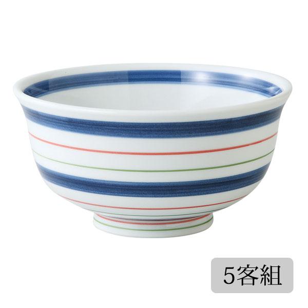 食器 丼 碗 セット 軽量 かわいい おしゃれ プレゼント 贈り物 波佐見焼 磁器 日本製 錦こま筋 軽量丼 5客組 70288