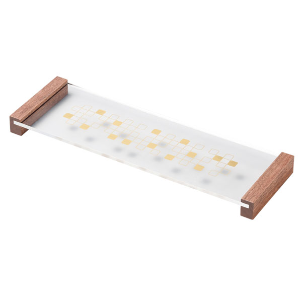 皿 器 プレート センタープレート 四角 ウォールナット 透明 越前漆器 上品 おすすめ 日本製 センタープレート ウォールナット 10-07002