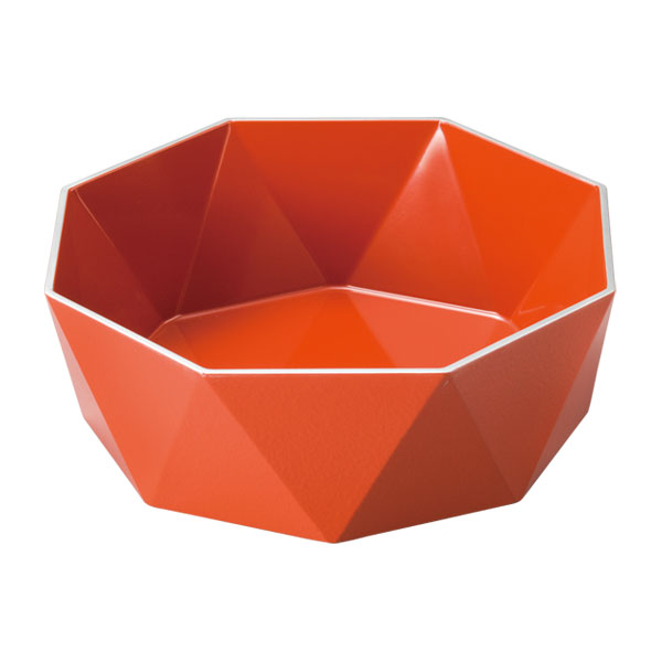 皿 器 盛皿 ボウル 盛鉢 越前漆器 木製 上品 おすすめ 日本製 【送料無料】銀彩 クラウンパーティー 洗朱 10-07601