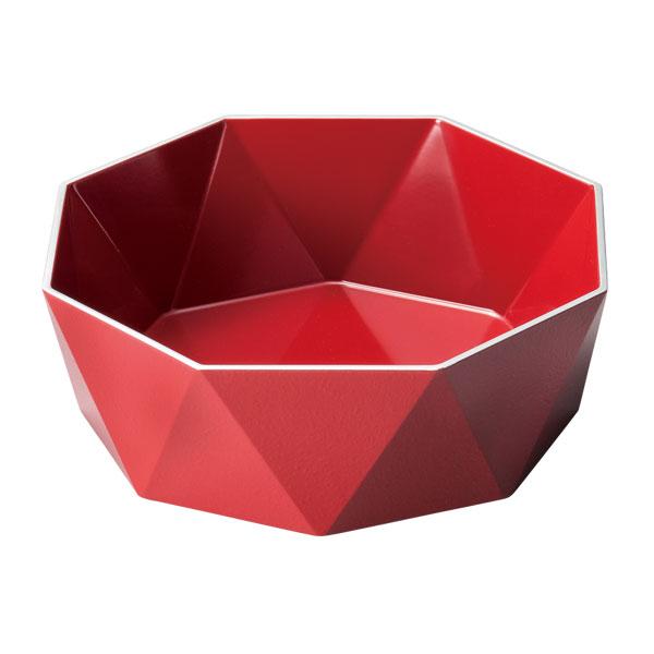 皿 器 盛皿 ボウル 盛鉢 越前漆器 木製 上品 おすすめ 日本製 【送料無料】銀彩 クラウンパーティー 朱 10-07603
