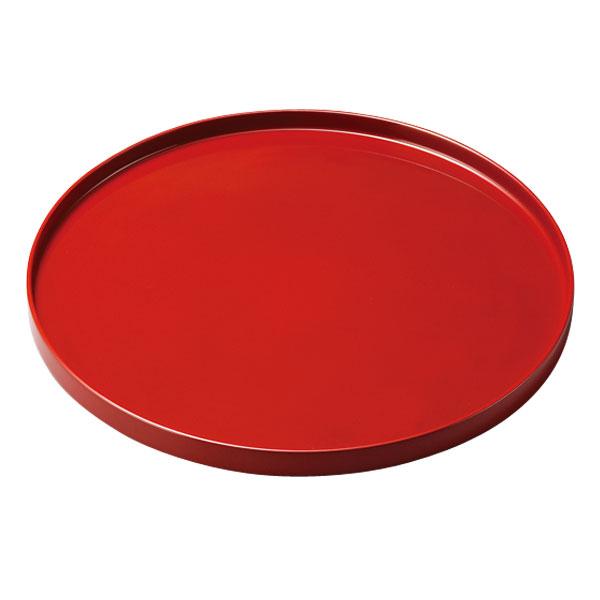 盆 丸 越前漆器 木製 漆塗り 手塗り 高級 上品 おすすめ 日本製 尺丸盆 朱 10-10205