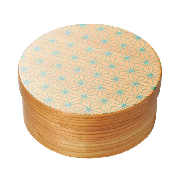 上品な越前漆器のお弁当箱 弁当 丸型 木製 越前漆器 上品 好評受付中 おすすめ 麻の葉 日本製 丸 送料無料 日本の弁当箱 10-11504