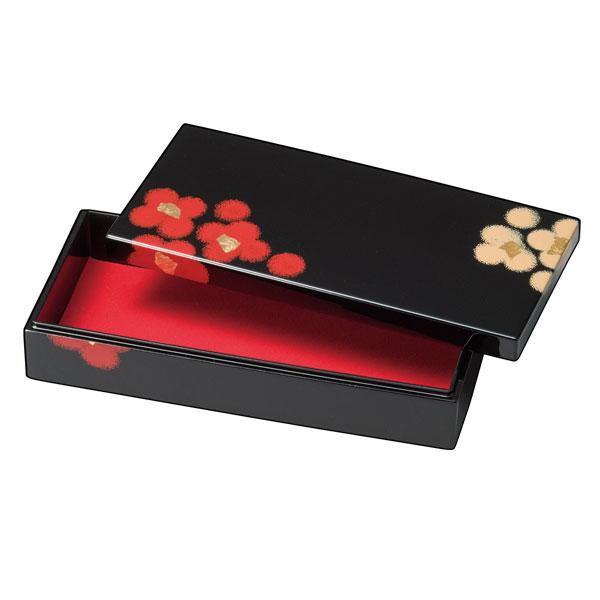 長手箱 箱 ボックス おすすめ おしゃれ ギフト 越前漆器 上品 漆塗 手塗 うるし 漆器 高級 日本製 うるし華 長手箱 黒 10-12504