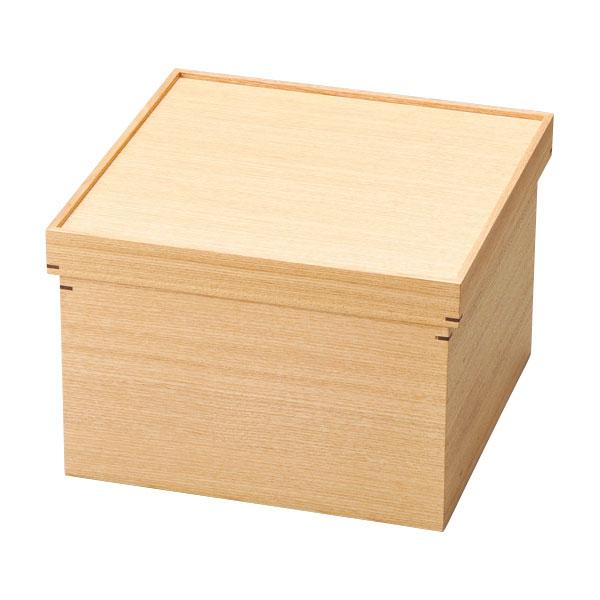 茶櫃 お茶 調度 おもてなし おすすめ おしゃれ 豪華 ギフト 越前漆器 木製 上品 高級 日本製 白木塗タモ箱型茶びつ 10-13606