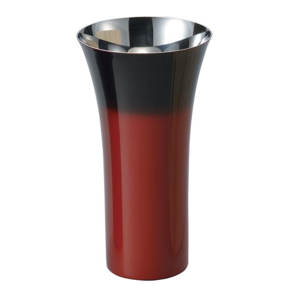 コップ カップ 酒器 ビール 炭酸飲料 食器 ギフト 燕 研磨技術 山中塗 日本製 【送料無料】シングルカップ L(1客)赤彩 SCS-L602