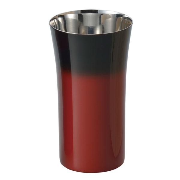 コップ カップ 酒器 ビール 炭酸飲料 食器 ギフト 燕 研磨技術 山中塗 日本製 【送料無料】シングルカップ S(1客)赤彩 SCS-S602