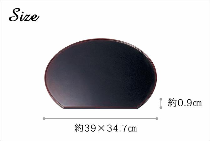 禅与禅宗午间豪华固体半月形表托盘垫欢迎庆祝取得日本游客越前漆洁具漆光泽简单优雅的乐器漆油漆手漆特色等距 3 个半月表池
