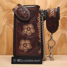 KC,s ケイシイズ 財布 モンタナ ウォレット 牛皮革 ミシンステッチ 長財布 革財布 メンズ KC,s leather craft ケーシーズ 本革 ブランド [メーカー取り寄せ/在庫未確定商品][優れものA]