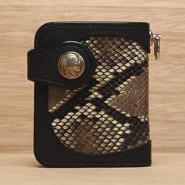 KC,s ケイシイズ 財布 ダグラス ビルフォールド パイソン 牛皮革 ニシキヘビ革 KSB006 二つ折り財布 革財布 メンズ レディース KC,s leather craft ケーシーズ 日本製 本革 ブランド コンパクト [メーカー取り寄せ/在庫未確定商品][優れものA]