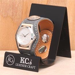 KC,s ケイシイズ 時計 スリーコンチョ ウォッチブレス エレファント(象革)(ゾウ革)[腕時計][メンズ][レディース][KC,s leather craft][ケーシーズ][本革][ブランド][メーカー取り寄せ/在庫未確定商品]【優れものA】