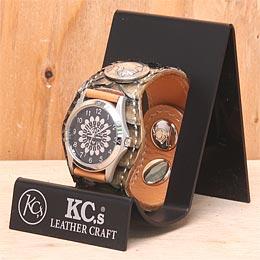KC,s ケイシイズ 時計 スリーコンチョ ウォッチブレス ラッセル パイソン ニシキヘビ革 アンティーク仕上 KPR508 腕時計 メンズ レディース KC,s leather craft ケーシーズ 本革 ブランド [メーカー取り寄せ商品][優れものA]