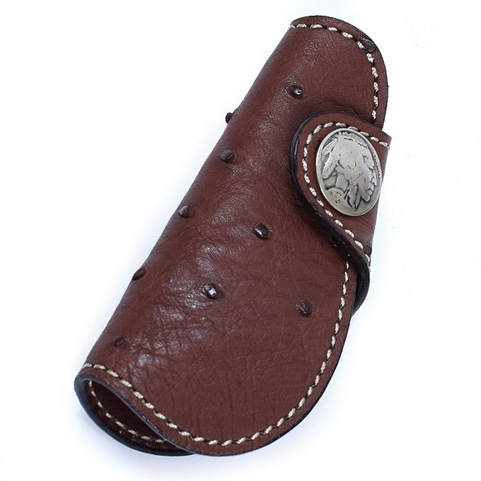 KC,s ケイシイズ キーケース ノガレス オーストリッチ ダチョウ革 4連 KPK560 KC,s leather craft ケーシーズ 本革 ブランド [メーカー取り寄せ/在庫未確定商品][優れものA]