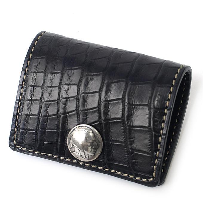 KC,s ケイシイズ コインケース スリー クロコダイル ワニ革 コインケース ミニ財布 KC,s leather craft ケーシーズ 本革 ブランド 小銭入れ メンズ レディース [メーカー取り寄せ商品][優れものA]