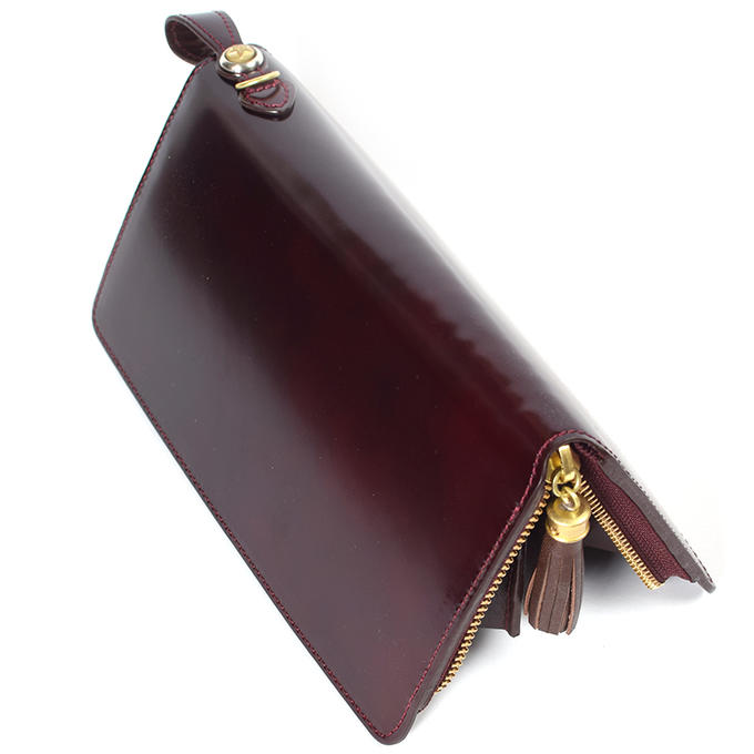 財布ウォレットラウンドジップコードバン馬革長財布革財布春財布メンズレディースKC,sケーシーズ日本製本革レザークラフト薄い薄型[優れものA]