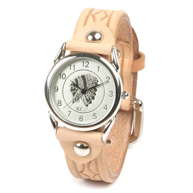 KC,s ケイシイズ 時計 バックル ウォッチブレス ワン スタンプ メンズ 牛皮革 KSR519 腕時計 ブレスレットウォッチ 革ベルト KC,s leather craft ケーシーズ 本革 ブランド [メーカー取り寄せ商品][優れものA]