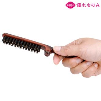 日本 携帯用で折りたたみ式の豚毛ヘアブラシです ケース付でコンパクトにまとまるヘアーブラシ プチギフト ヘアブラシ 携帯用 折りたたみ式 豚毛ヘアブラシ 保護ケース付 優れものA BC-85 メール便可 即日出荷 brush 200円 二つ折り Hair