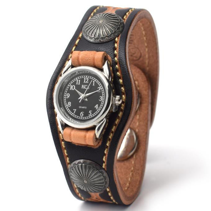 KC,s ケイシイズ 時計 ウォッチブレス レディース ツーコンチョ シルバーコンチョ ハンドスタンプ 牛革 KSR542 腕時計 ブレスレットウォッチ 革ベルト メンズ レディース KC'S ケイシーズ ケーシーズ 本革 ブランド [メーカー取り寄せ商品][優れものA]