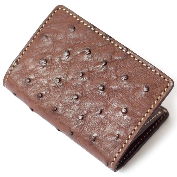 KC,s ケイシイズ カードケース フォートワース オーストリッチ 牛革 ダチョウ革 KPC013 カードケース クレジットカード ポイントカード 名刺入れ KC,s leather craft ケーシーズ 本革 ブランド 薄い 薄型 スリム [メーカー取り寄せ商品][優れものA]