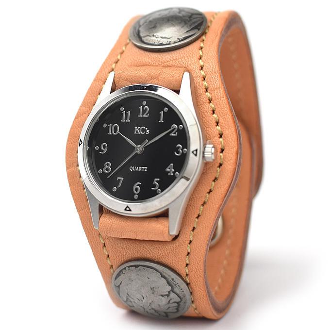 KC,s ケイシイズ 時計 ウォッチブレス スリーコンチョ ホースハイド 馬革 KSR523 腕時計 ブレスレットウォッチ 革ベルト メンズ レディース KC,s leather craft ケーシーズ 本革 ブランド [メーカー取り寄せ商品][優れものA]
