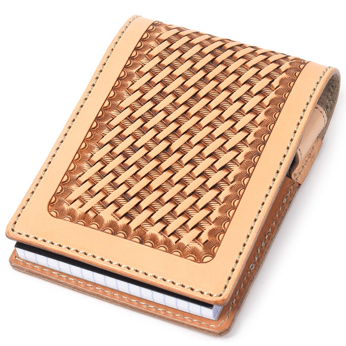 KC,s ケイシイズ メモパッド No.12 バスケット[文房具][ロディアケース][ロディアカバー][メモ帳カバー][ペンホスダー付][KC,s leather craft][ケーシーズ][本革][レザークラフト][メーカー取り寄せ/在庫未確定商品]【優れものA】