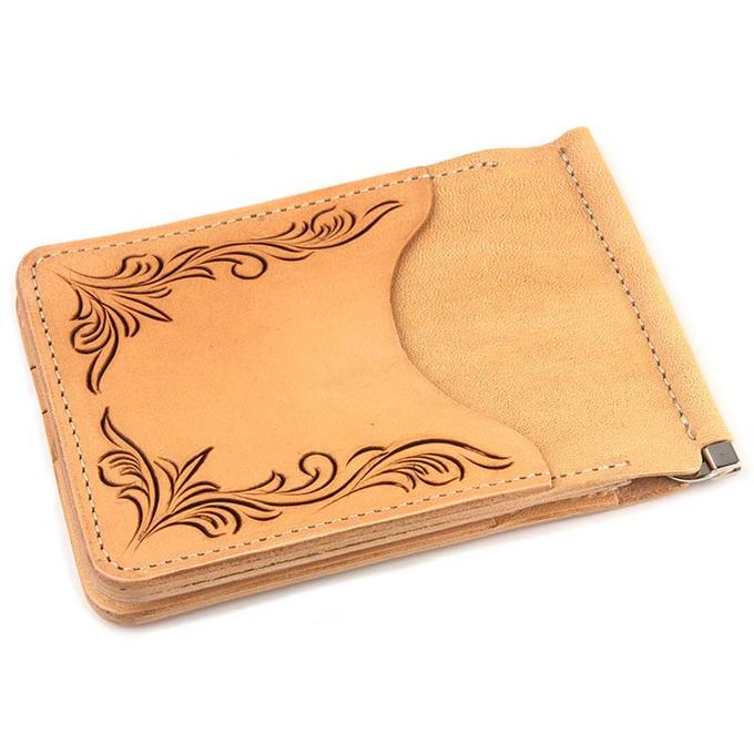 KC,s ケイシイズ マネークリップ クリップオン フリーカット 牛革 KIB302 お札入れ 薄い KC,s leather craft ケーシーズ 本革 ブランド カード入れ付き [メーカー取り寄せ/在庫未確定商品][優れものA]