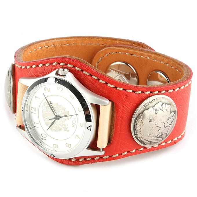 KC,s ケイシイズ 時計 スリーコンチョ ウォッチブレス スムース オーストリッチ ダチョウ側面皮 KPR502 腕時計 メンズ レディース KC,s leather craft ケーシーズ 本革 ブランド [メーカー取り寄せ商品][優れものA]