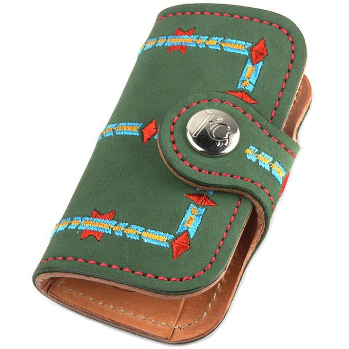 KC,s ケイシイズ キーケース スタンディング ロック ヌバック 牛皮革 4連 KSK054 ベルトボタン式 KC,s leather craft ケーシーズ 本革 ブランド [メーカー取り寄せ商品][優れものA]