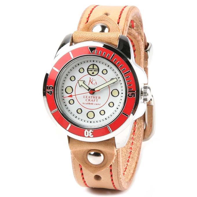 KC,s ケイシイズ 時計 ウォッチブレス バックル3(スリー) カウハイド 牛革 栃木レザー KSR058 腕時計 ブレスレットウォッチ 革ベルト メンズ レディース KC'S ケイシーズ ケーシーズ 本革 ブランド [メーカー取り寄せ商品][優れものA]