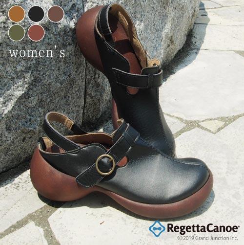 《10%OFFクーポン SALE》 リゲッタ カヌー サボ レディース サボサンダル ストラップ ベルトサボ クロッグ 履きやすい 歩きやすい 疲れにくい RegettaCanoe 日本製 グミインソール 靴下 素足 CJES6107