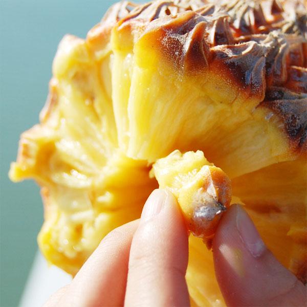 【送料無料】石垣産スナックパイン Mサイズ(1玉1kg~1.3kg以下) 3玉入り 大城農園【沖縄県産 パイナップル スナックパイン】