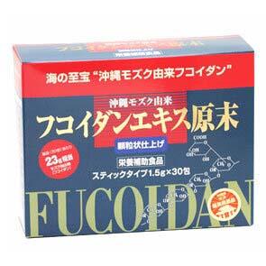 【 沖縄特産 健康食品 】フコイダンエキス原末顆粒 30包[アカルイミライ] 老眼回復エクササイズ