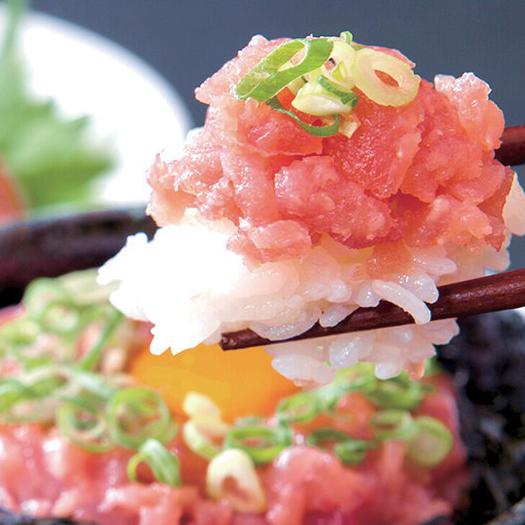 ヘルシーで簡単調理 ご家庭で贅沢気分 ねぎとろ まぐろすき身 1人前×5セット 年間定番 冷凍 の素 日本未発売