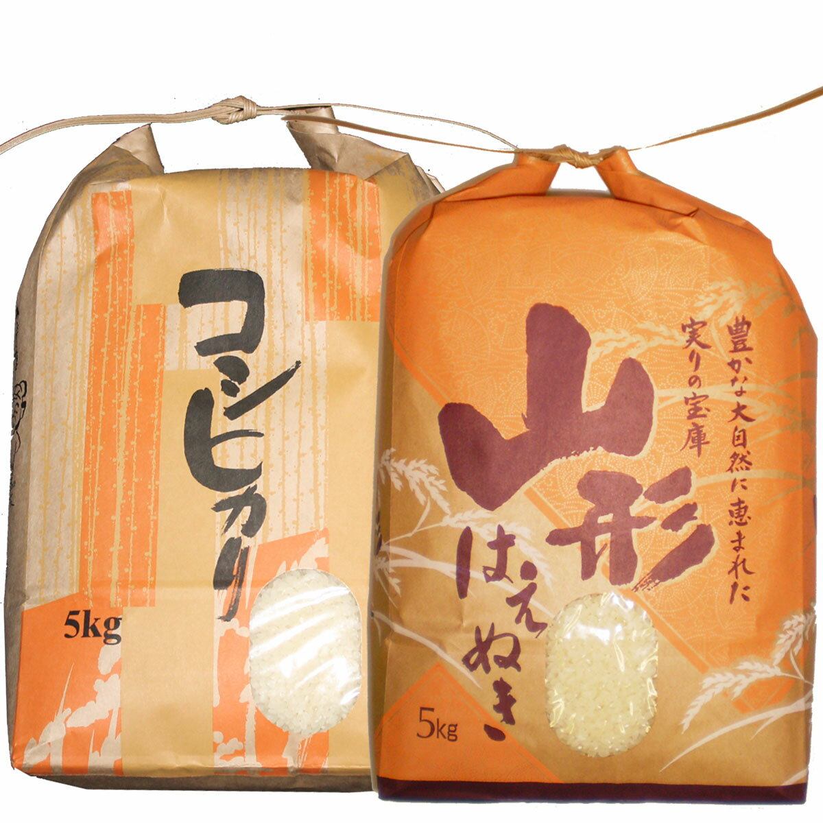 令和元年山形県産はえぬき5kg・コシヒカリ5kgセット 白米 精米済(送料無料)