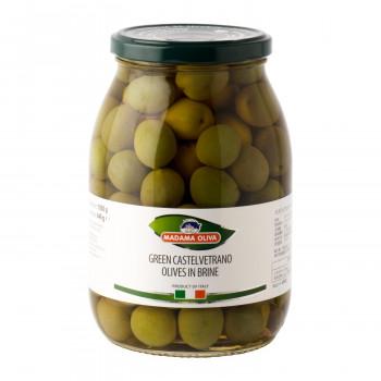 甘みがありマイルドな味わい マダマオリーヴァ カステルヴェトラーノ グリーンオリーブ 種あり <セール&特集> 1050g 9300 送料無料 6個セット 内祝い 直送