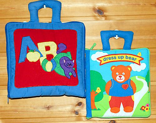 布絵本英語MY ABC BAG&dress up bear英語版2種類セットプレイ&ラーンギフトセット【知能開発レッスンブック】幼児教育選んで!!無料ギフトラッピング