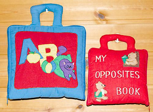 布絵本英語教育プレイ&ラーンENGLISHシリーズMY ABC BAG&MY OPPOSITES BOOK英語刺しゅう版ギフトセット幼児教育【知能開発レッスンブック】選んで!!無料ギフトラッピング