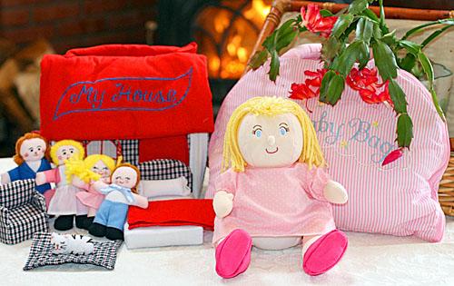 布おもちゃ布人形布絵本布の着せ替えバッグMy Baby Bag&布のプレイハウスMy Houseハッピー・プレイ&ラーンギフトセット幼児教育選んで!!無料ギフトラッピング