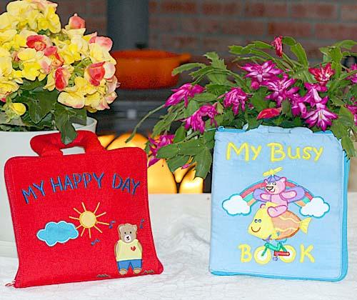 布絵本My Happy Day&MY BUSY BOOKNEW ENGLISH VERSIONマイハッピーディ&マイビズィブック英語版【知能開発レッスンブック】プレイ&ラーンギフトセット幼児教育英語教育選んで!!無料ギフトラッピング