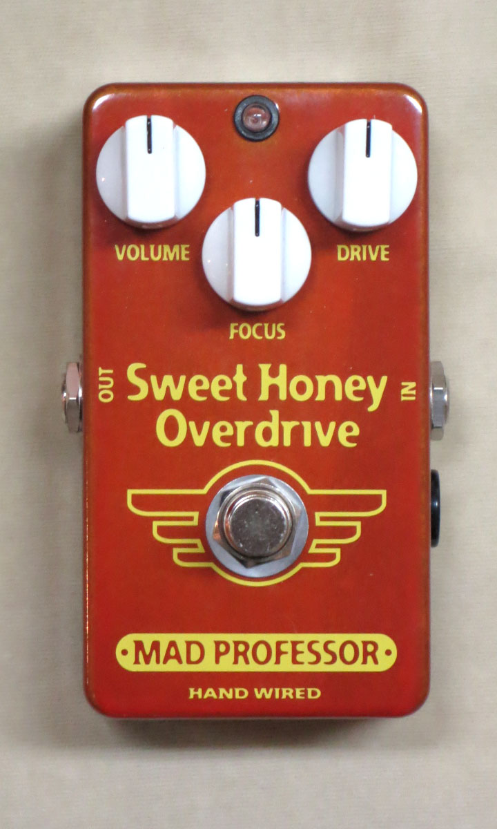 MAD PROFESSORSweet Honey Overdrive【正規輸入品】【送料無料】【店長お薦め】18Vアダプター付