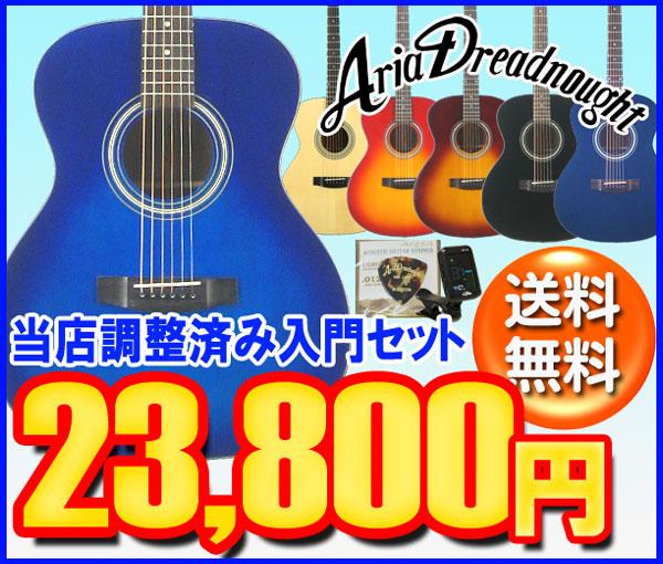 Aria AF-201 アコースティックギター 初心者セット 入門セットフォークギター 【レビュー特典付き】【女性にもお勧め】【ギター通販】