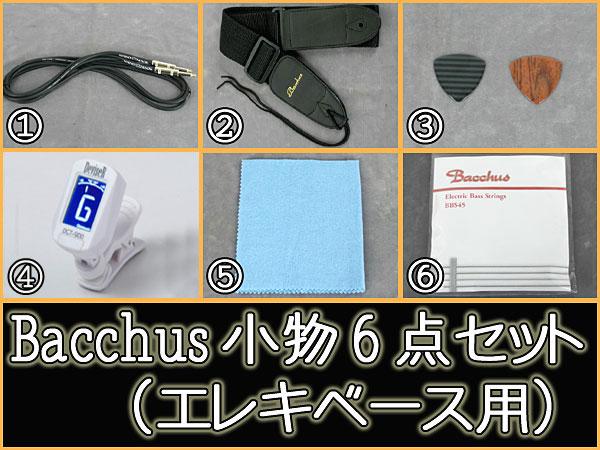 Bacchus エレキベース用 小物6点セット(アンプ無し)【送料無料】【smtb-tk】